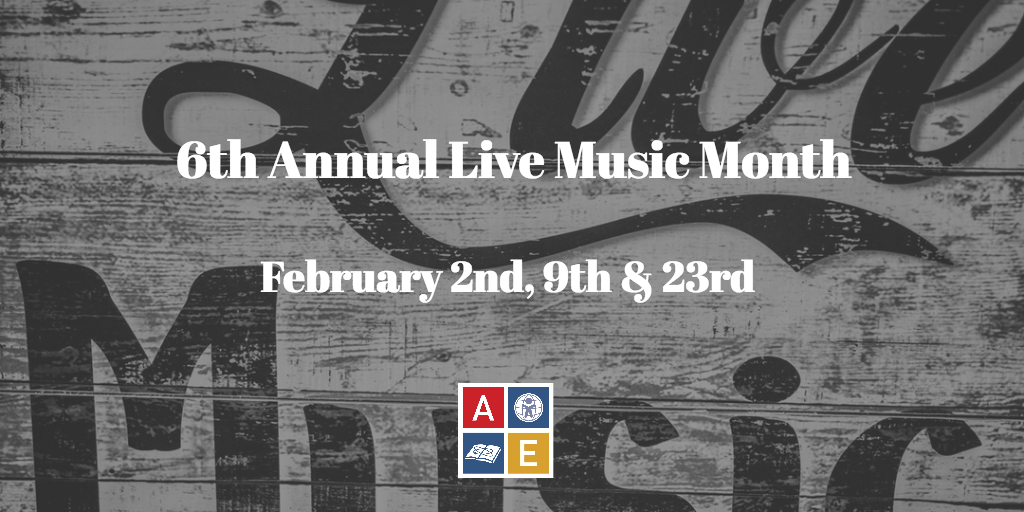 6th Annual Live Music Month is coming in February!