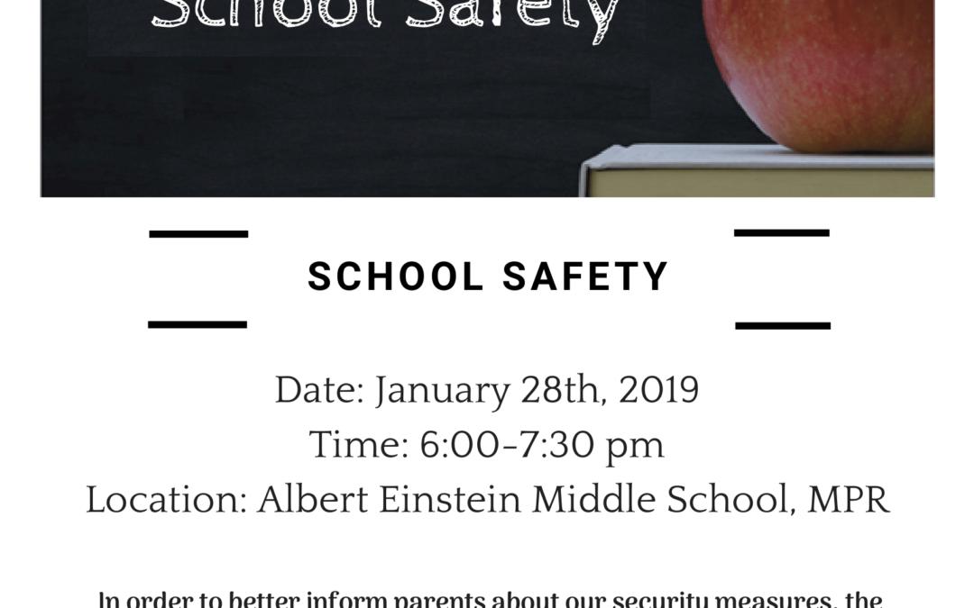 K-8 Parent University: School Safety – January 28th | Talleres para Padres K-8: Seguridad Escolar – 28 de enero