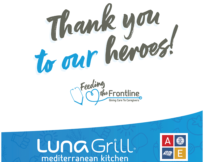 Feeding the Frontline – Free Luna Grill Pre-packaged Meals – Every Thursday